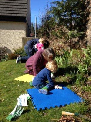 Weeding at St Ninian's